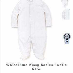 NWT Kissy Basic Blue Baby Footie, One Piece, Onsie